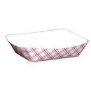 SPECIALTY QUALITY PACKAGING 8708 SQP Food Tray - #50 Red Plaid