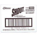 Shout 686661 Wipe Instant Stain Remover White, Disposable, (80 per Box)