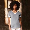Jerzees 602WV Tri-Blend Ladies' Varsity Ringer T-Shirt