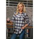Burnside Ladies Plaid Flannel Shirt - B5210