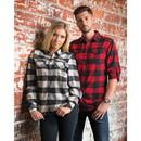 Burnside Mens Plaid Flannel Shirt - B8210