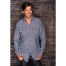 Burnside B8255 Men's Chambray Long Sleeve Shirt