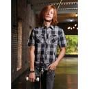 Burnside B9203 Men's Buffalo Plaid Short Sleeve Shirt