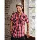 Burnside B9206 Men's Short Sleeve Western Shirt