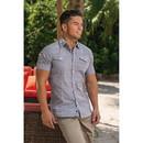 Burnside B9247 Men's Woven Textured Short Sleeve Shirt