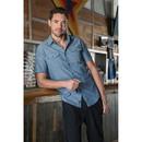Burnside B9255 Men's Chambray Short Sleeve Shirt