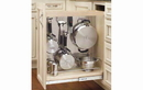 Rev-A-Shelf 444-BC-8SS Base Cabinet Pullout Organizer with Stainless Panel Sink & Base Accessories, 8