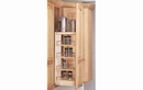 Rev-A-Shelf 448-WC-5C Cabinet Pullout Organizer with Wood Adjustable Shelves Wall Accessories, 5