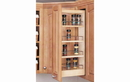 Rev-A-Shelf 448-WC-8C Cabinet Pullout Organizer with Wood Adjustable Shelves Wall Accessories, 8