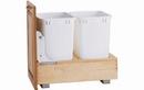 Rev-A-Shelf 4WC-18DM2-16 Natural 35QT Double Waste Container Pullout