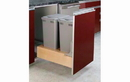 Rev-A-Shelf 4WCBM-2150DM-2-12 Double 50 Quart Bottom Mount Rev-A-Motion Waste Container