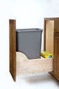 Rev-A-Shelf 4WCSC-1535DM-1-12 Single 35 Qt.Wood Bottom Mount Waste Container Kit w/ Blum