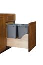 Rev-A-Shelf 4WCSC-1835DM-2-16 Double 35 Qt. Wood Bottom Mount Waste Container Kit w/ Blum