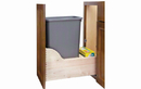 Rev-A-Shelf 4WCSD-1535DM-1 Natural Soft-close/Servodrive 35QT Single Waste Container Pullout