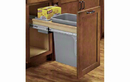 Rev-A-Shelf 4WCTM-1550BBSCDM-1 Natural Soft-close 50QT Single Waste Container Pullout