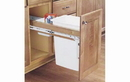 Rev-A-Shelf 4WCTM-1850DM-1 Natural 50QT Single Waste Container Pullout
