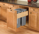 Rev-A-Shelf 4WCTM-RM-2135DM-2 Double Top Mount Rev-A-Motion™ Wood Waste Containers