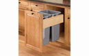 Rev-A-Shelf 4WCTM-RM-2150DM-2-12 Natural Soft-close Revamotion 50QT Double Waste Container Pullout