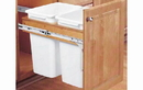 Rev-A-Shelf 4WCTM-2150DM-2-18 Natural 50QT Double Waste Container Pullout