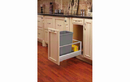 Rev-A-Shelf 5149-15DM18-117-32 Silver Soft-close Revamotion 35QT Single Waste Container Pullout