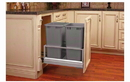 Rev-A-Shelf 5149-2150DM-217 Silver Soft-close Revamotion 50QT Double Waste Container Pullout