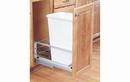 Rev-A-Shelf 5349-1550DM-1-18 White Soft-close 50QT Single Waste Container Pullout