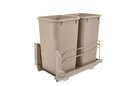 Rev-A-Shelf 53WC-1527SCDM-212 Champagne Soft-close 27QT Double Waste Container Pullout