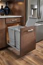 Rev-A-Shelf 53WC-1535SCDM-117-20 Silver Metallic Soft-close 35QT Single Waste Container Pullout