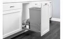 Rev-A-Shelf 53WC-1550SCDM-117-20 Silver Metallic Soft-close 50QT Single Waste Container Pullout