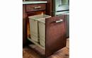 Rev-A-Shelf 53WC-1835SCDM-212-20 Champagne Soft-close 35QT Double Waste Container Pullout
