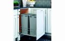 Rev-A-Shelf 53WC-2150SCDM-217-20 Silver Metallic Soft-close 50QT Double Waste Container Pullout