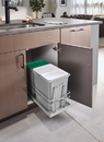 Rev-A-Shelf 5SBWC-815S-1 Gray Soft-close 15L + 8L Sink Base Double Waste Container Pullout