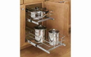Rev-A-Shelf 5WB2-1822-CR Base Cabinet Pullout 2 Tier Wire Basket Sink & Base Accessories, 17-3/4