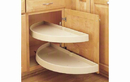 Rev-A-Shelf 6882-31-15-570 Lazy Susan Half-Moon 2 Shelf (Pivot and Slide) Blind Corner Accessories, 31