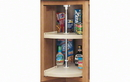 Rev-A-Shelf 6942-24-15-52 Pie-Cut RAS Polymer 2 Shelf Dependently Rotating Corner Lazy Susans, 24