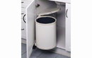 Rev-A-Shelf 8-010412-15 Single Round Pivot-out Metal Waste Containers, 15 LTR - White / Black