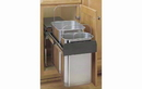 Rev-A-Shelf 8-785-30-2SS Stainless Steel 10+20 Liter Double Waste Container Pullout