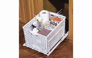 Rev-A-Shelf HURV-1512 S Hamper Bottom Mount Wire with Polymer Utility Basket for Bathroom/Vanity, 14-3/8
