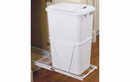Rev-A-Shelf RV-12PB-L Single Bottom Mount w/ Lid White Wire Waste Containers, 35 QT - White / White