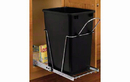 Rev-A-Shelf RV-12KD-18C S-30 Black 35QT Single Waste Container Pullout