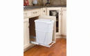 Rev-A-Shelf RV-12PB-LE Single Bottom Mount w/ Lid Reduced Depth White Wire Waste Containers, 35 QT - White / White