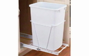 Rev-A-Shelf RV-12PB-24 White 35QT 3/4 Extension Single Waste Container Pullout