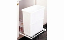Rev-A-Shelf RV-14PBS-30 White Single Waste Container Pullout