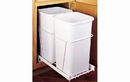 Rev-A-Shelf RV-15PB-2 S-24 White 27QT Double Waste Container Pullout