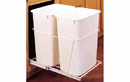 Rev-A-Shelf RV-18PB-2 S-20 White 35QT Double Waste Container Pullout