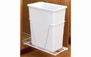Rev-A-Shelf RV-9PB-32 White 30QT 3/4 Extension Single Waste Container Pullout