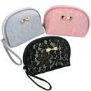 Aspire Shell Shape Lace Cosmetic Bags, Chic Bride Makeup Bags