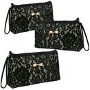 Aspire Floral Lace Makeup Bags with Wristlet, Clutch Bags, Bridal Purse