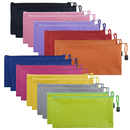 Aspire 20 Pack Waterproof Zipper File Bags Pencil Pouches 9 1/4 x 4 1/2 Inches
