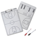 GOGO Basketball Dry Erase Coach Board 2-Sided Clipboard with Red and Black Marker Pens
